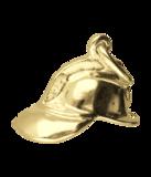 Gouden brandweerhelm ketting hanger_