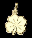 Gouden Klaverblad groot ketting hanger_