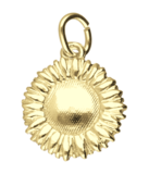 Gouden Zonnebloem ketting hanger_