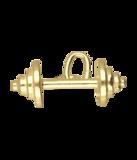 Gouden Halter klein ketting hanger_
