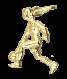 Gouden Bowlster ketting hanger_