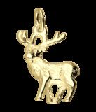 Gouden Hert ketting hanger_