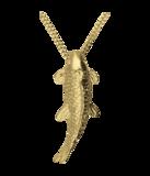 Gouden Koi Karper groot ketting hanger_