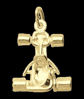 Gouden Kartauto ketting hanger