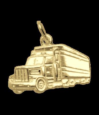 Gouden Vrachtwagen groot ketting hanger