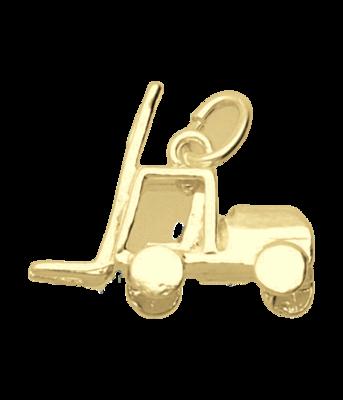 Gouden Heftruck ketting hanger