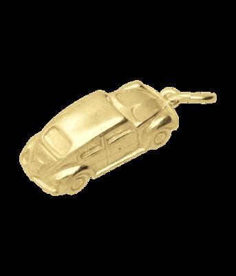 Gouden VW Volkswagen Kever massief ketting hanger