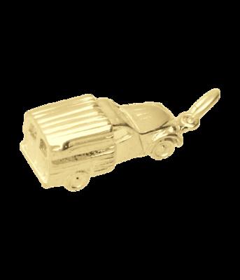 Gouden Lelijk Eend bestel ketting hanger