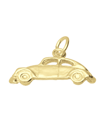 Gouden VW Kever vlak ketting hanger