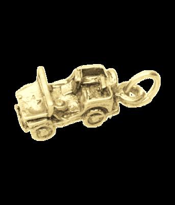 Gouden Jeep in detail ketting hanger