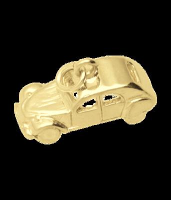 Gouden Citroën 2 CV Lelijk eend 3D ketting hanger