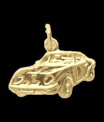 Gouden Sportauto vlak ketting hanger