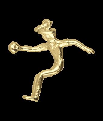 Gouden Jeu de bouler ketting hanger