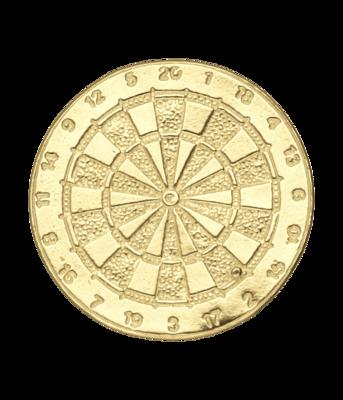 Gouden Dartbord ketting hanger