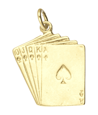 Gouden Kaartspel ketting hanger