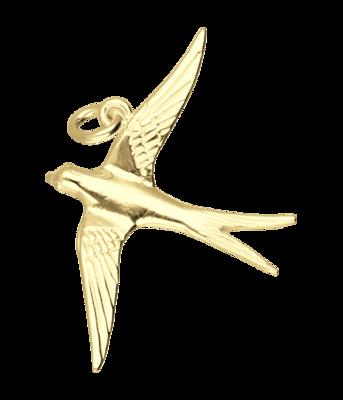 Gouden Zwaluw ketting hanger