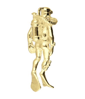 Gouden Duiker zwaar ketting hanger