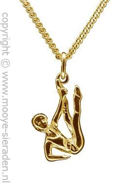 Gouden Turnster ketting hanger