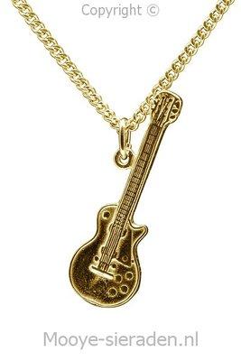 Gouden Gibson gitaar electrisch ketting hanger