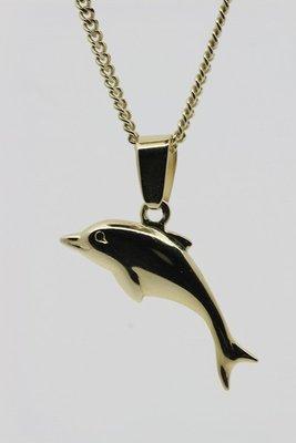 Gouden Dolfijn ketting hanger- 4
