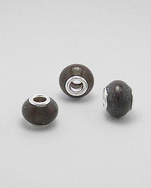 Zilveren edelsteen bead - agaat