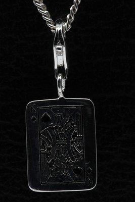 Zilveren Schoppenkoning hanger én bedel