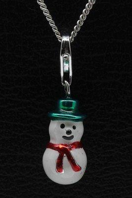 Zilveren Sneeuwpop hanger én bedel