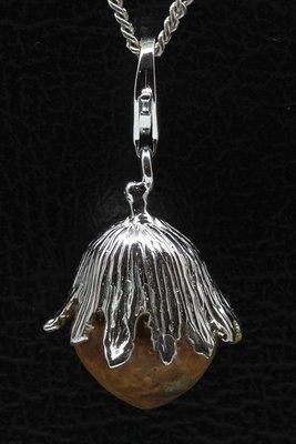 Zilveren Hazelnoot hanger én bedel