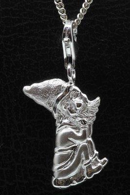 Zilveren Kabouter puntmuts hanger én bedel