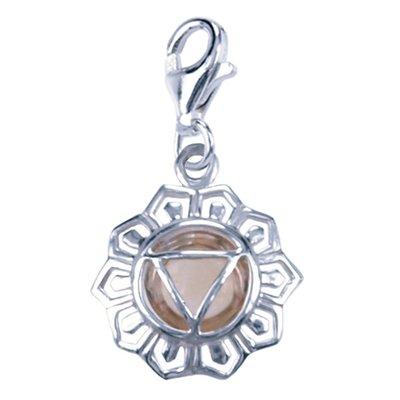 Zilveren Chakra navel bedel