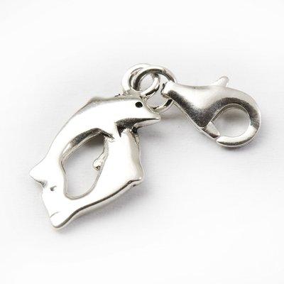 Zilveren Dolfijnenpaar armband bedel