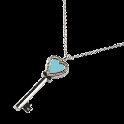 RVS assieraad Sleutel tot mijn hart design herdenkings hanger