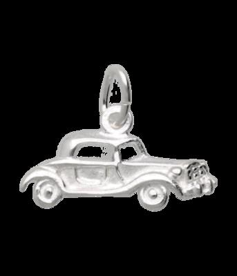 Zilveren Oldtimer Auto ketting hanger - antiek