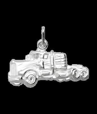 Zilveren Truck - Vrachtwagen - Vrachtauto ketting hanger