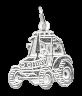 Zilveren Tractor ketting hanger