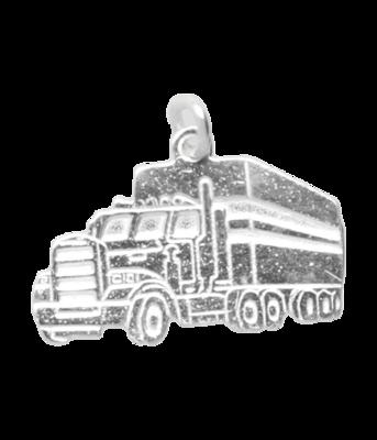 Zilveren Vrachtwagen ketting hanger - 2
