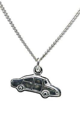 Zilveren Auto ketting hanger