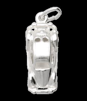 Zilveren Volkswagen Kever ketting hanger - met bodem