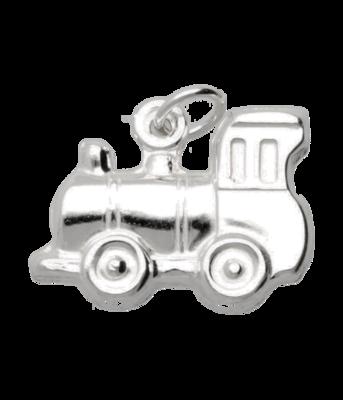 Zilveren Trein locomotief ketting hanger