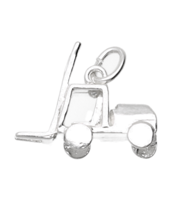 Zilveren Heftruck ketting hanger