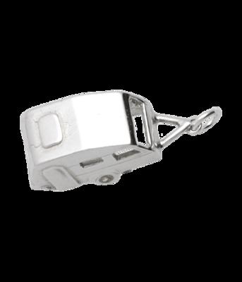 Zilveren Caravan ketting hanger