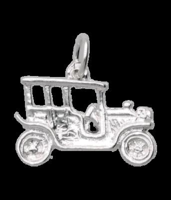 Zilveren Oldtimer ketting hanger