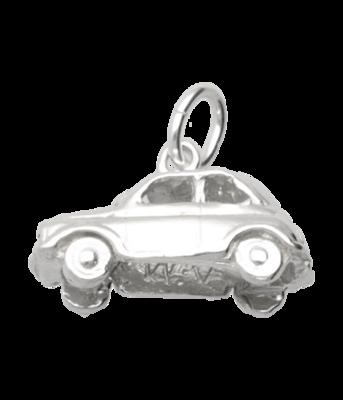 Zilveren Fiat 500 ketting hanger