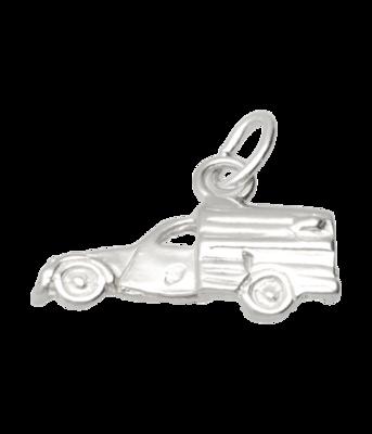 Zilveren Citroën 2CV Lelijk eend bestelauto ketting hanger