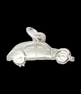 Zilveren Citroën 2CV Lelijk eend plat ketting hanger