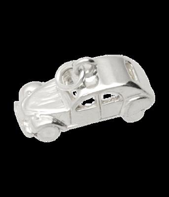 Zilveren Citroën 2CV Lelijk eend 3D ketting hanger