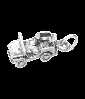 Zilveren Jeep detail ketting hanger