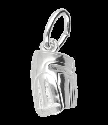 Zilveren Honkbal handschoen ketting hanger - klein