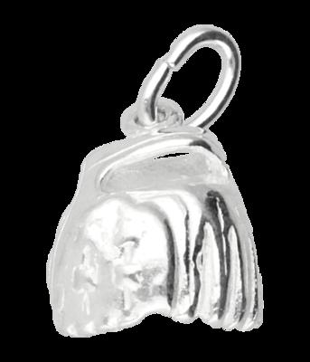 Zilveren Honkbalhandschoen ketting hanger - middel