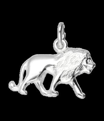 Zilveren Leeuw ketting hanger